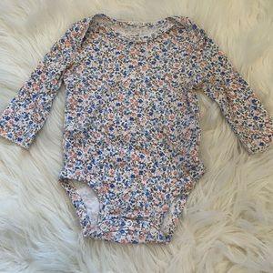 Carter's Floral Long-sleeve Bodysuit Size 3 Months